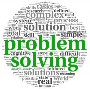 Problem solving concept word cloud